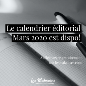 Calendrier Marketing Mars 2020